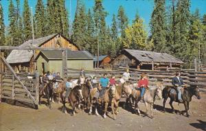 Horse riding , Watch Lake Lodge , Lone Butte , B.C. , Canada , 50-60s