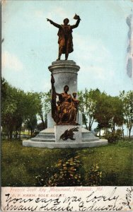 Frederick MD Francis Scott Key Statue Monument c1907 ANC Postcard F48 *as is