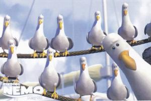 Flock of Seagulls from Disney Pixar Movie Finding Nemo