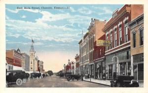 Chanute Kansas~East Main Street~Kress 5&10c Store~Clothing~Occidental Hotel~1916