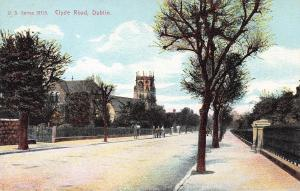 Clyde Road, Dublin, Ireland, Very Early Postcard, Unused