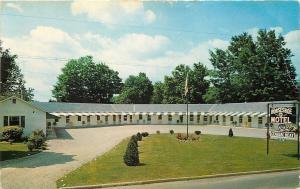 Sharon Springs New York~Horseshoe Motel~Owner GH Fonda~1950s Postcard