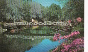 Alabama Mobile Bellingrath Gardens Rustic Bridge Over Mirror Lake