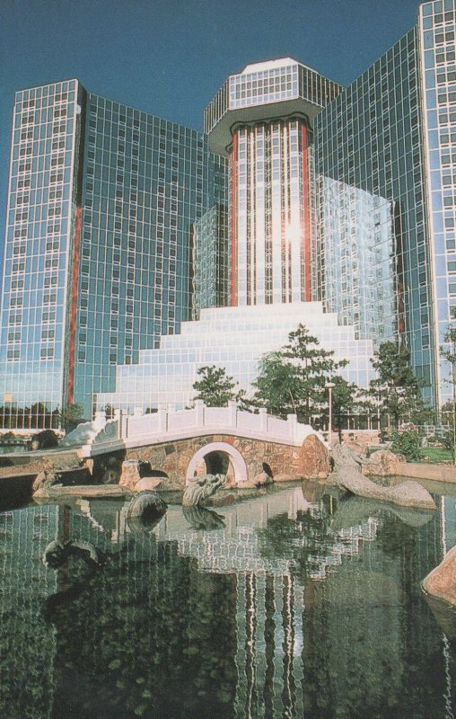 The Great Wall Sheraton Hotel Beijing Chinese Garden Postcard