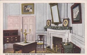 Virginia Mount Vernon Mrs Washington's Sitting Room