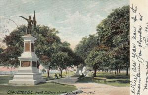 CHARLESTON , South Carolina , PU-1906; South Battery, Jasper Monument