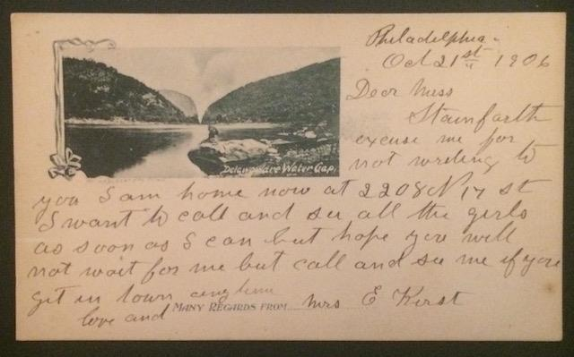 Delaware Water Gap 1906 Private Mailing Card
