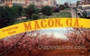 Macon, Georgia Large Letter Town Unused