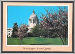 Washington, Olympia Cherry Trees & Capitol Building