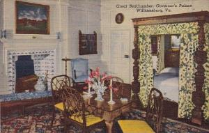 Great Bedchamber Governors Palace Williamsburg Virginia