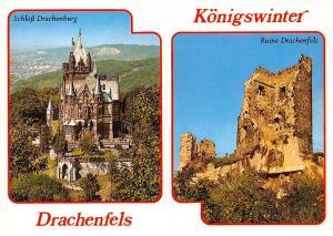 Koenigswinter Drachenfels Castles, Schloss Drachenburg Chateau Ruins