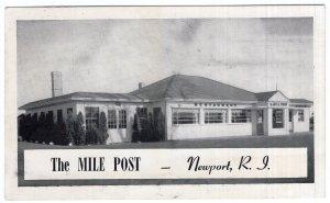Newport, R. I., The Mile Post