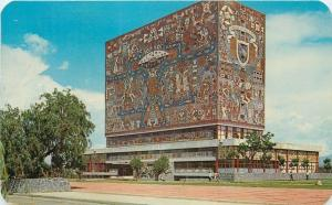 University City Mexico~Central Library With Murals~Ciudad Natl University~1960s