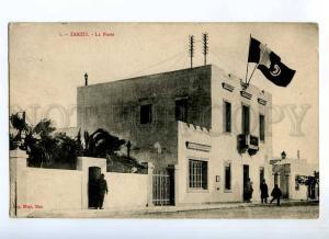 235379 Tunisia ZARZIS post office FLAGS Vintage postcard