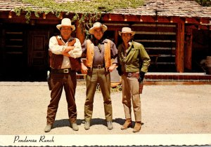 Nevada Incline Village Ponderosa Ranch Ben Hoss and Little Joe In Front Of Ca...