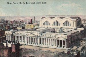 NEW YORK CITY , PU-1911; New Penn. R.R. Terminal