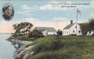 Maine Portland Pearl Of Orr's Island House Orr's Island 1916