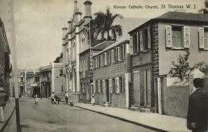 danish west indies, St. THOMAS, Roman Catholic Church (1910s)