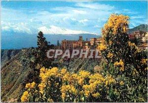 Postcard Modern Taormina Etna and St. Dominic