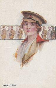 Female Head Portrait , 00-10s ; Great Britain ; Girl Soldier