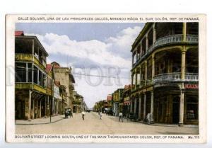 133048 PANAMA COLON Bolivar street from south Vintage postcard