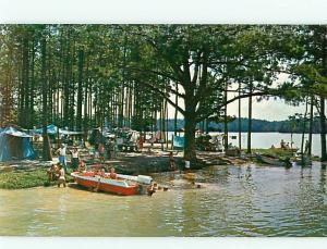 Vintage Post Card Wind Creek State Park Lk Martin Alexander City   Ala   # 4133
