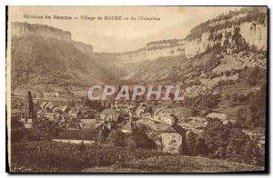 Old Postcard Balm Balm Village Caves seen Echaillon