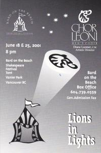 Lions In Lights Chor Leoni Men's Choir Bard On The Beach Vancouver Canada