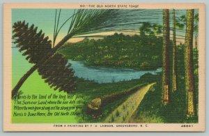 Greensboro North Carolina~F Lawson Painting~State Toast~Standard Chrome Postcard