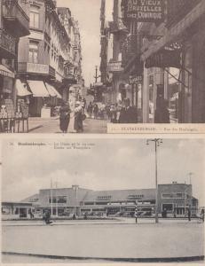 Blankenberghe Gare Train Station Rue Des Boulangers 2x Postcard s