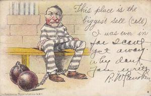 Convict in jail cell comic, PU-1906 , #2