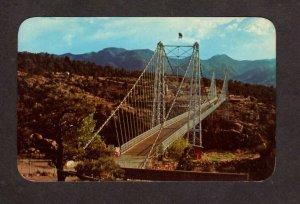 CO Royal Gorge Bridge Canon City Colorado Arkansas River Postcard