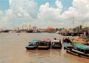Vietnam saigon Hochiminh City, Ben Cang Nha Rong Le Port Boats Harbour