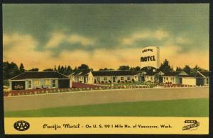 Postcard Unused Pacific Motel Vancouver WA LB