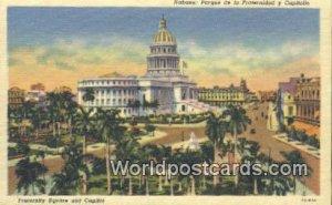 Fraternity Sqaure & Capitol Habana Republic of Cuba Unused