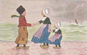 Dutch Boy Greeting Young Girl