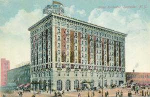 Hotel Rochester and Theater to left, Rochester, New York - DB