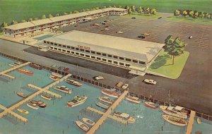 POINT PLEASANT, NJ New Jersey  VED ELVA  Motel & Boat Docks  ROADSIDE  Postcard