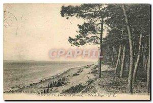 Old Postcard The Pyla sur Gironde sea beach area