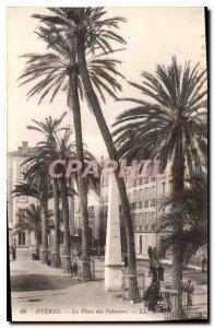 Postcard Old Hyeres Place des Palmiers