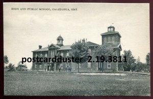 3811 - CALEDONIA Ontario 1910s High & Public School by Corman