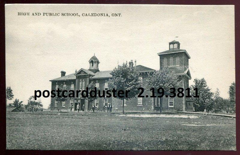 dc39 - CALEDONIA Ontario 1910s High & Public School by Corman