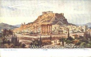 Athen mit Akropolis Athens Greece Unused
