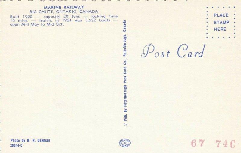 BIG CHUTE , Ontario, 1950-60s ; Marine Railway