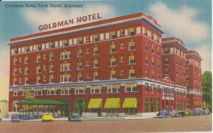 FT SMITH - GOLDMAN HOTEL 1940s view / DEMOLISHED