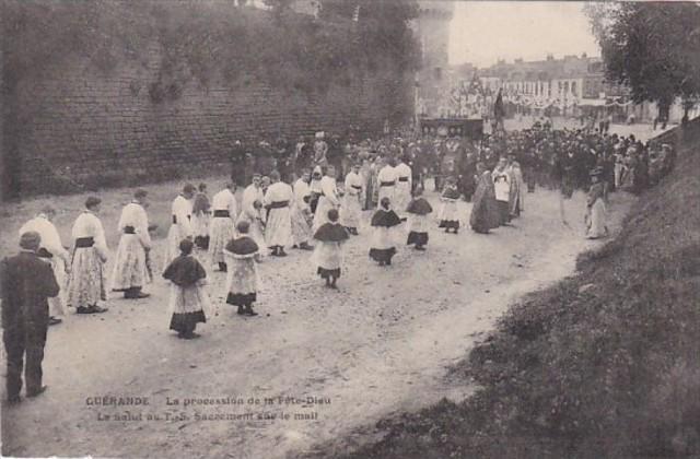 France Guerande La procession de la Pete-Dieu