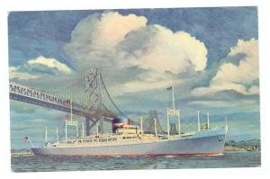 SS President Polk Sailing Under The San Francisco-Oakland Bay Bridge