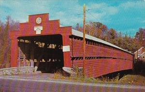 Pennsylvania Lenhartsville Covered Bridge At Dreibelbis Station