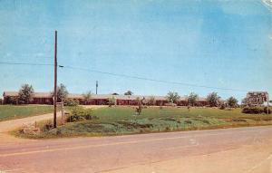 Auburn Alabama Floral Park Motel Street View Vintage Postcard K43571