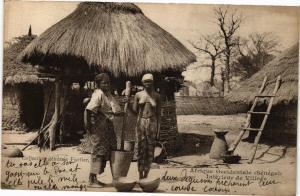 CPA Senegal Fortier Afrique Occidentale-Intérieur de Village (235176)